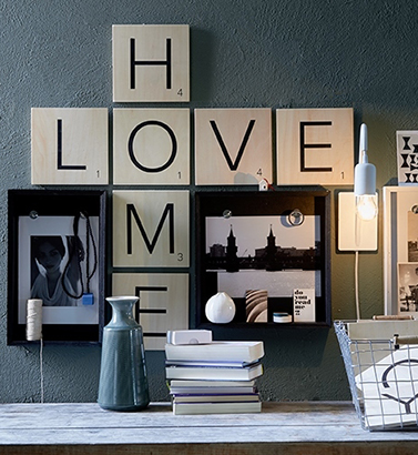 Grote scrabble letters HOME & LOVE